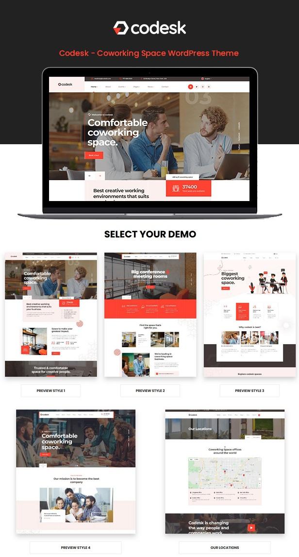 Creative Office Space WordPress Theme