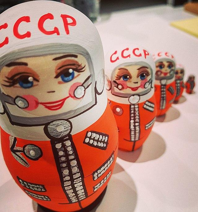 Soviet era Valentina Tereshkova nesting doll.