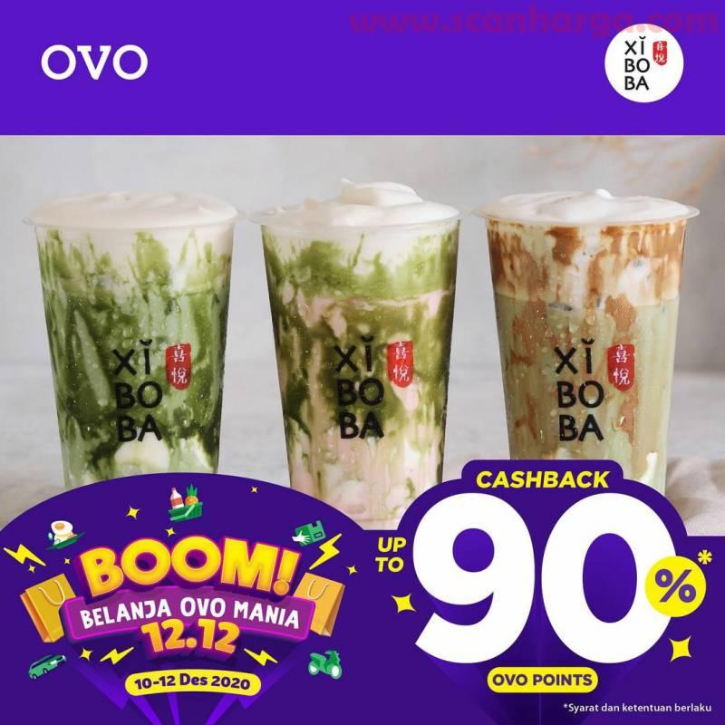 XIBOBA Boom Belanja Ovo Mania - Promo 12.12 CASHBACK hingga 90%