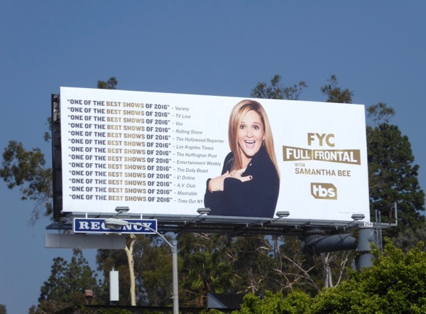 Full Frontal Samantha Bee 2017 Emmy FYC billboard