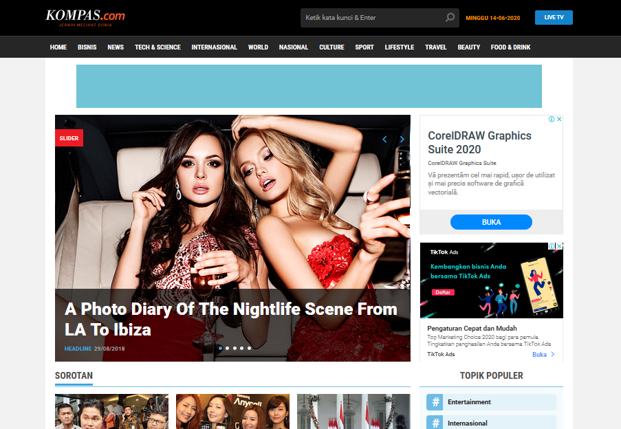 Kompasweb Professional Blogger News & Magazine