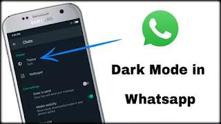 How to Enable Dark Mode in Whatsapp ? हिंदी में
