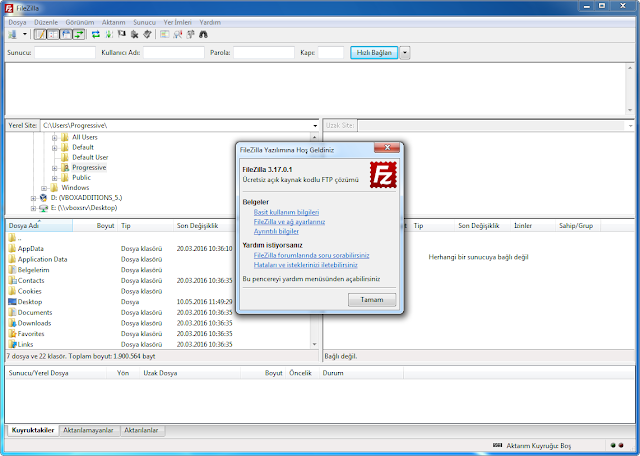 FileZilla Final indir katilimsiz