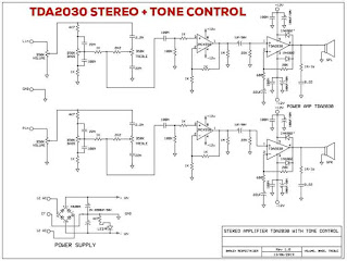 Stereo TDA2030 Amplifier + Tone Control
