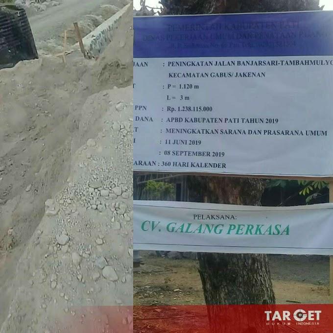 Terkesan Asal Asalan, Pasir Tras Sluke Digunakan Untuk Pasang Talud Oleh CV Galang Perkasa