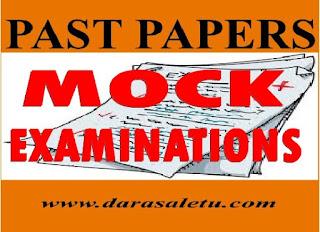 PAST PAPERS FOR  MOCK EXAMINATION TANZANIA (TAMONGSCO, TAHOSA ETC.)