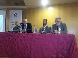 Ο Δ. Κωνσταντάρας,  ο Μιχάλης Άνθης, ο Σ. Κανάκης και ο Β. Αυγουλάς