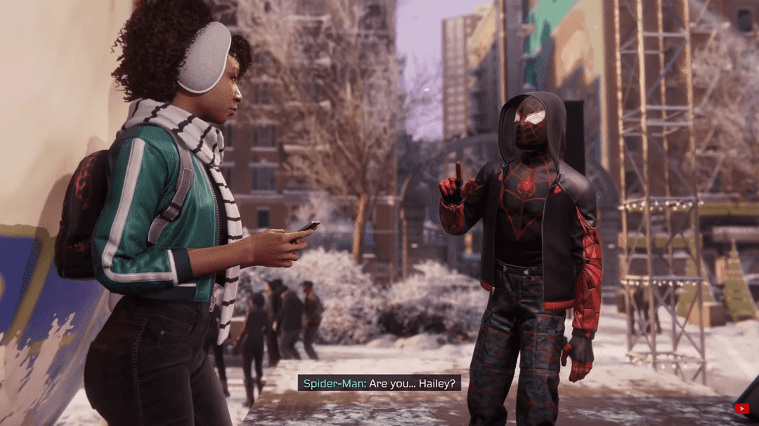 Spider-Man pregunta en lengua de signos: ¿eres Hailey?
