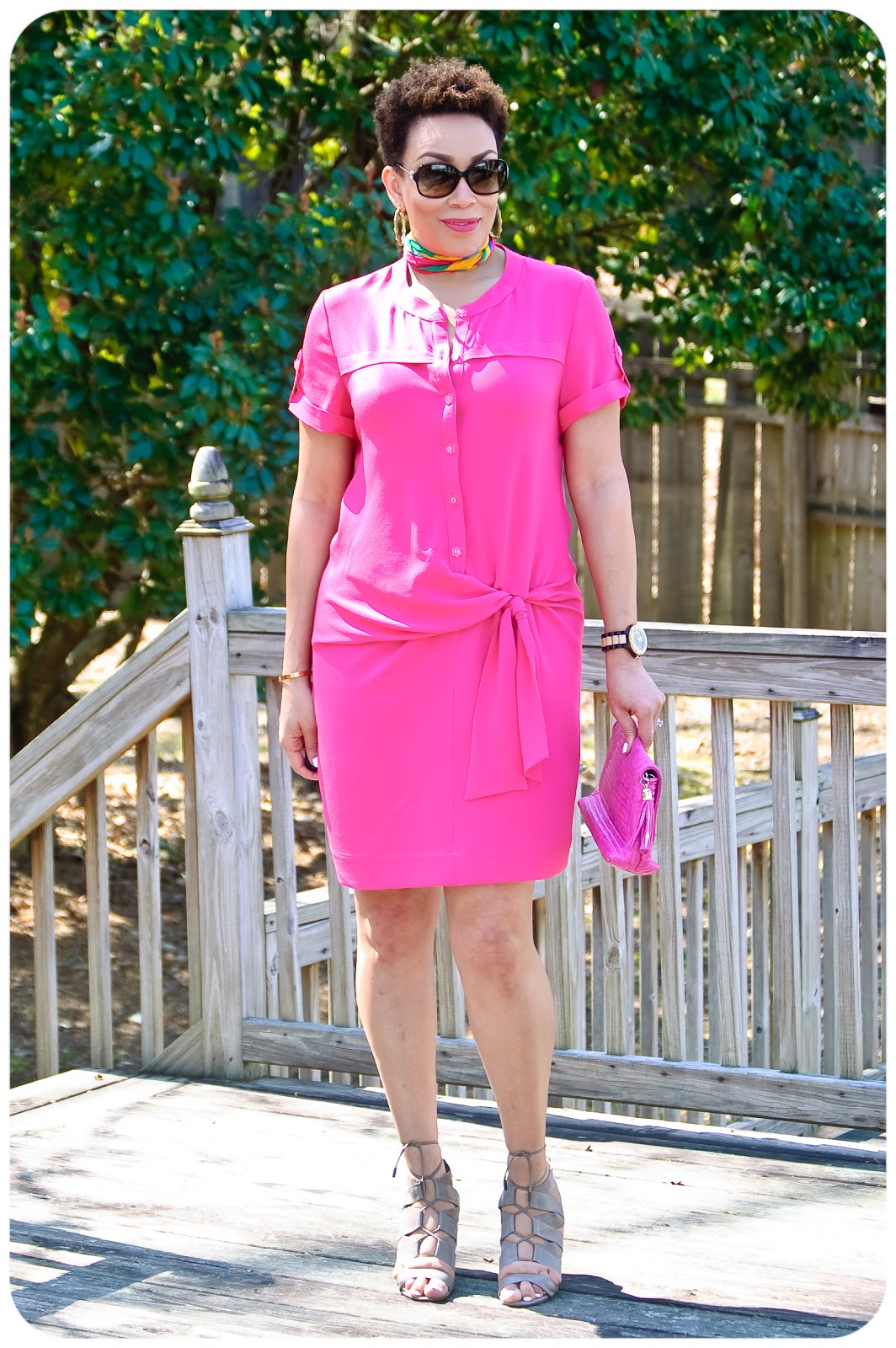 Vogue Patterns 1488 | Bold-Colored Shirtdress - Erica Bunker DIY Style!