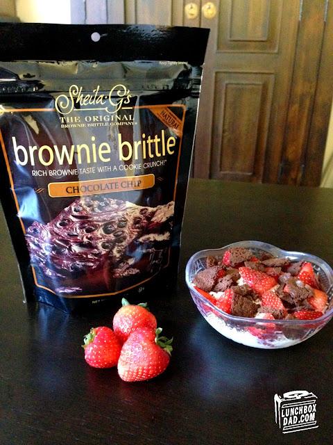 Brownie Brittle Healthy Yogurt Snack