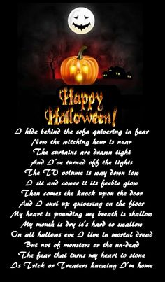 Poems Of Happy Halloween Day 2016