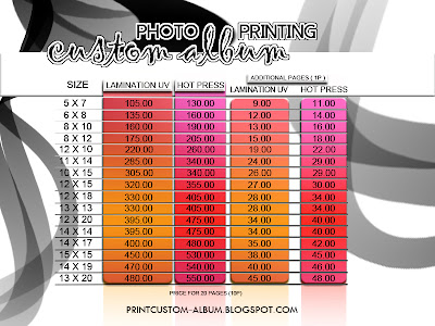 where to print custom album,price list for custom= album=custom album printing 2013,
