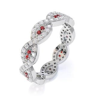 Garnet Eternity Ring UK