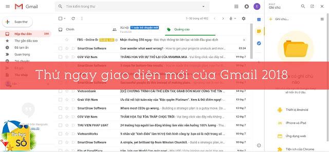 Gmail cap nhap giao dien moi