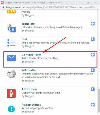 Cara Membuat lightbox Widget contact From Blogger