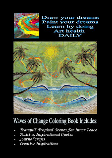 Surf art coloring book by San Clemente Surfer Shaper Artist Paul Carter