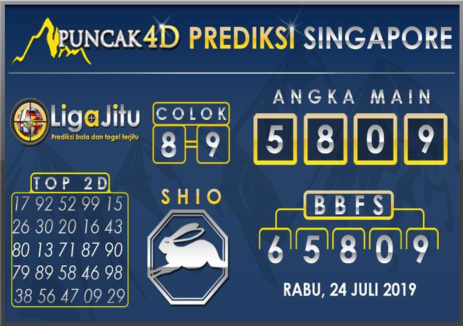 PREDIKSI TOGEL SINGAPORE PUNCAK4D 24 JULI 2019
