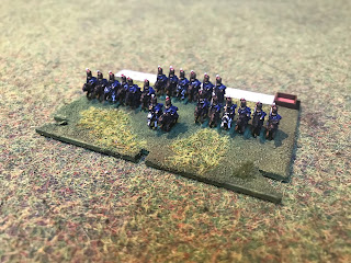 6mm Figures of the 5th Cavalry brigade of the Waterloo campaign
