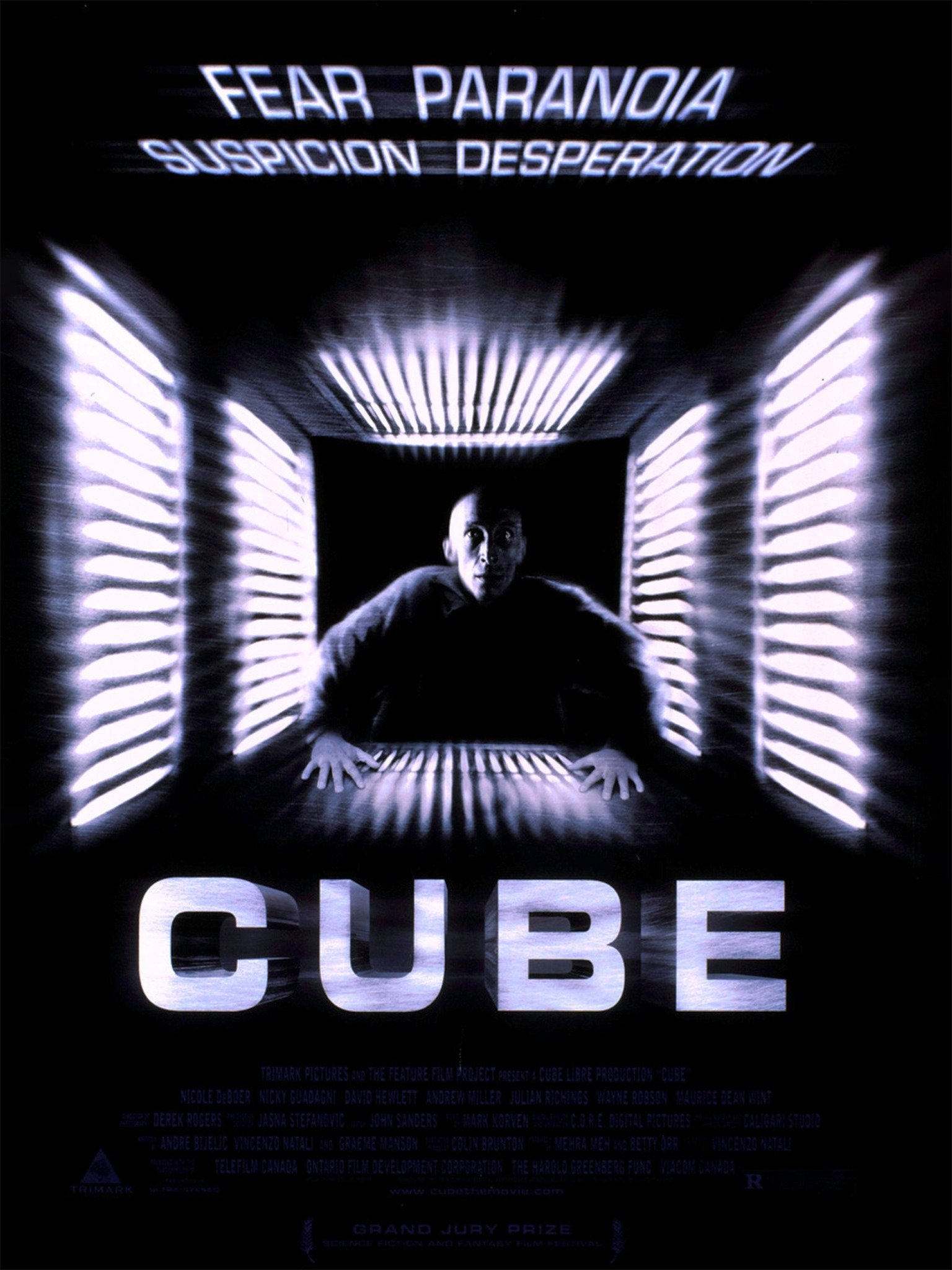 cube 1997 movie poster