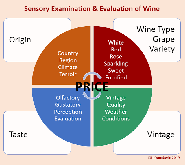 Sensory Examination and Evaluation of Wine -  Graphic by ©LeDomduVin 2019
