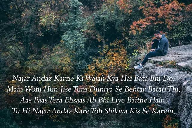 2 line sad love shayari on facebook