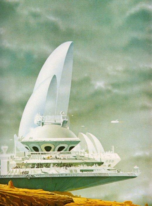 Terran Trade Authority Handbooks by Stewart Crowley - Ilustrações vintage 1979 naves espaciais ficção científica exploração universo