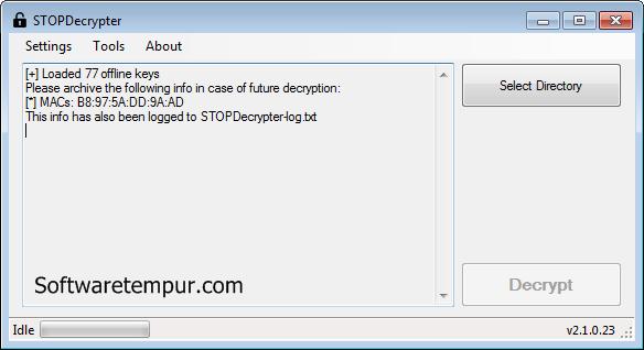 Ransomware stop decrypter windows