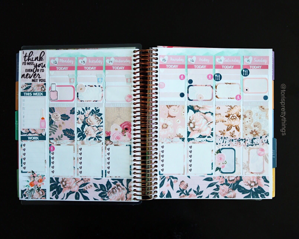 Glam Planner Wedding Kit - Weekly Plans - Tori's Pretty Things Blog