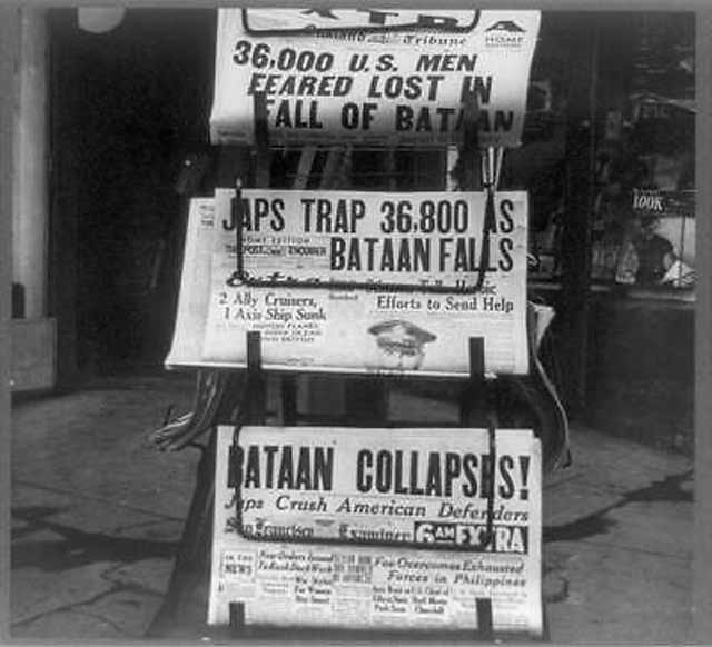A California newsstand on 9 April 1942, worldwartwo.filminspector.com