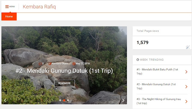 kembaraskyra.blogspot.com, kembara rafiq, hiking bersama rafiq