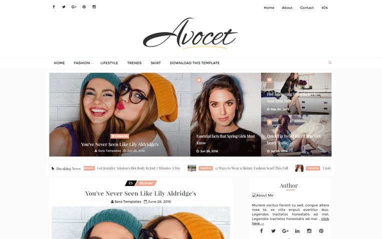 Avocet Free Blogger Template