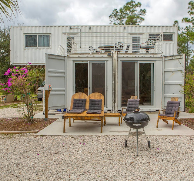 Headwaters Eco Retreat Shipping Container House, Florida 1