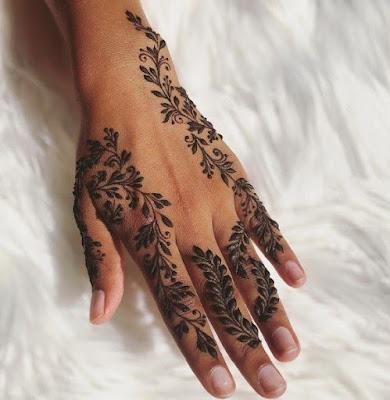 henna pengantin yang simple