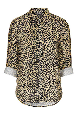 Topshop Cheetah Print Casual Shirt