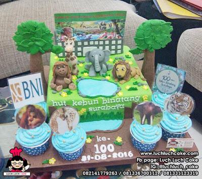 Kue Tart Ulang Tahun Kebun Binatang Surabaya dari Bank BNI