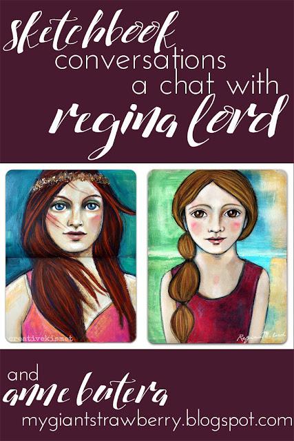 sketchbooks, Regina Lord, Sketchbook Conversations, Anne Butera, My Giant Strawberry