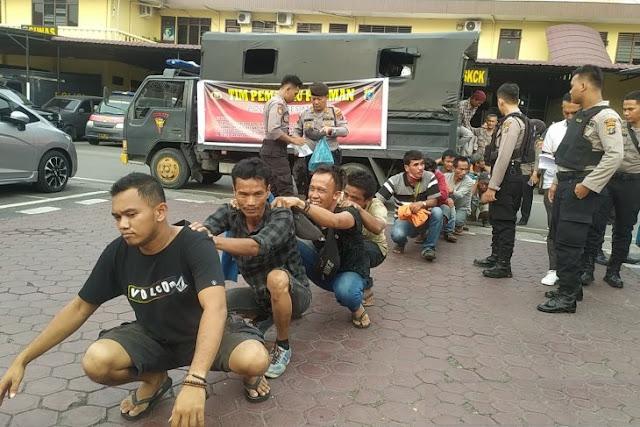 Tim Pemburu Preman Polrestabes Medan Ringkus 17 Preman yang Meresahkan Masyarakat