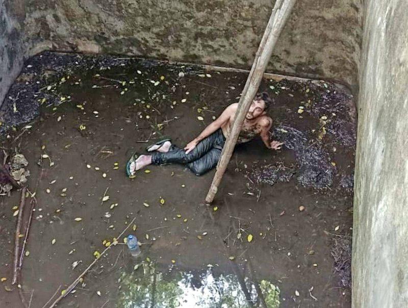 Turista inglés es rescatado seis días después de caer a un pozo abandonado en Bali
