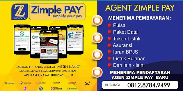 pendaftaran zimple pay, agen zimple pay