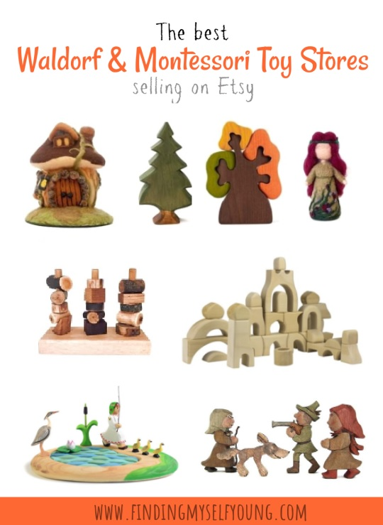 the best Waldorf and Montessori inspired toy stores on Etsy