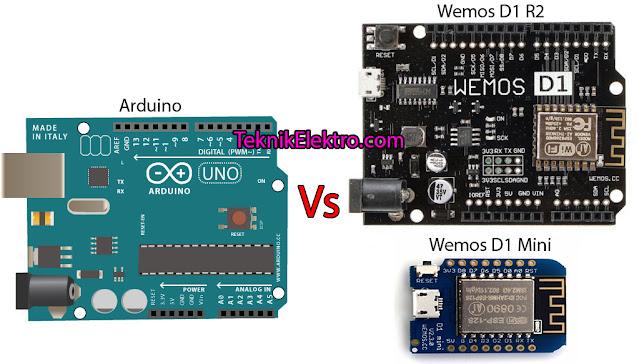 Perbedaan Wemos dan Arduino