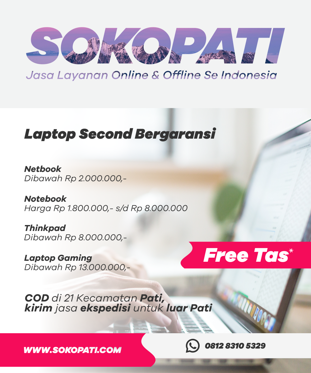 Laptop Second Bergaransi
