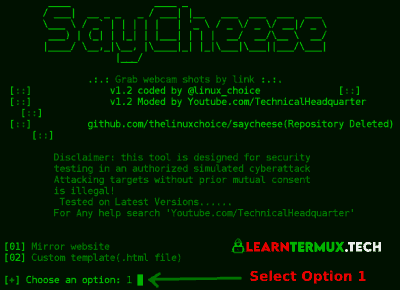 Saycheese Termux - Take Webcam Shots From Target