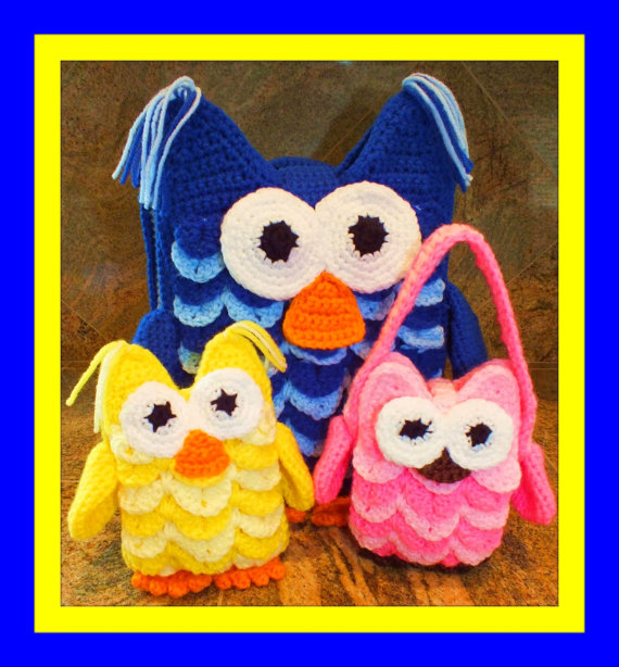 Owl Backpack, Owl Doll and Owl Purse Patterns©  By Connie Hughes Designs©