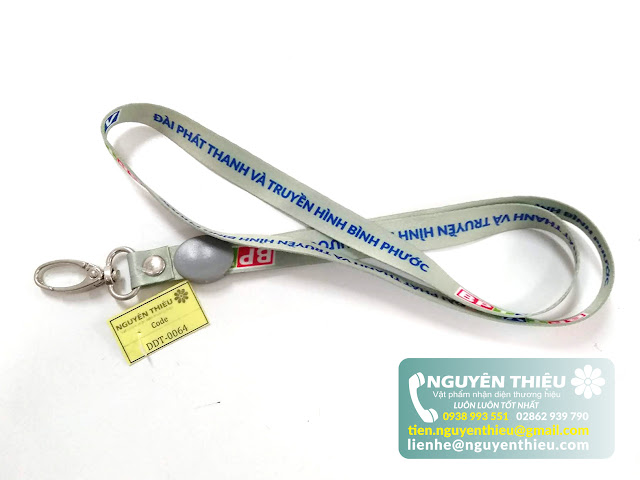 Địa chỉ sản xuất dây đeo thẻ nhân viên rẻ tại tp.HCM