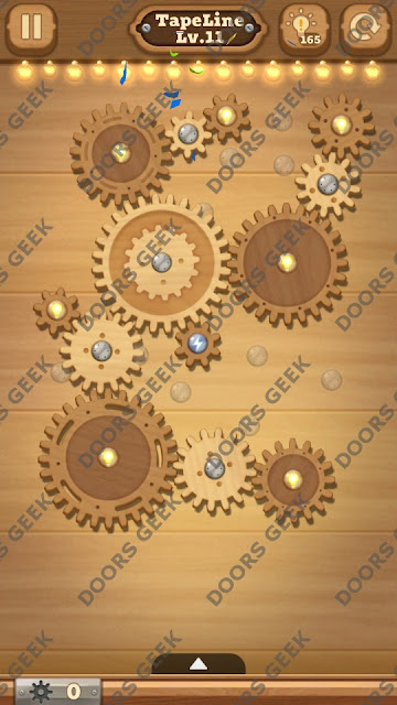 Fix it: Gear Puzzle [TapeLine] Level 11 Solution, Cheats, Walkthrough for Android, iPhone, iPad and iPod