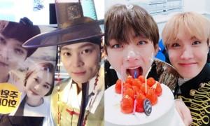 Sao Hàn 31/12: V (BTS) bị trét kem đầy mặt, Kim Tae Hee thân thiết với Joo Won