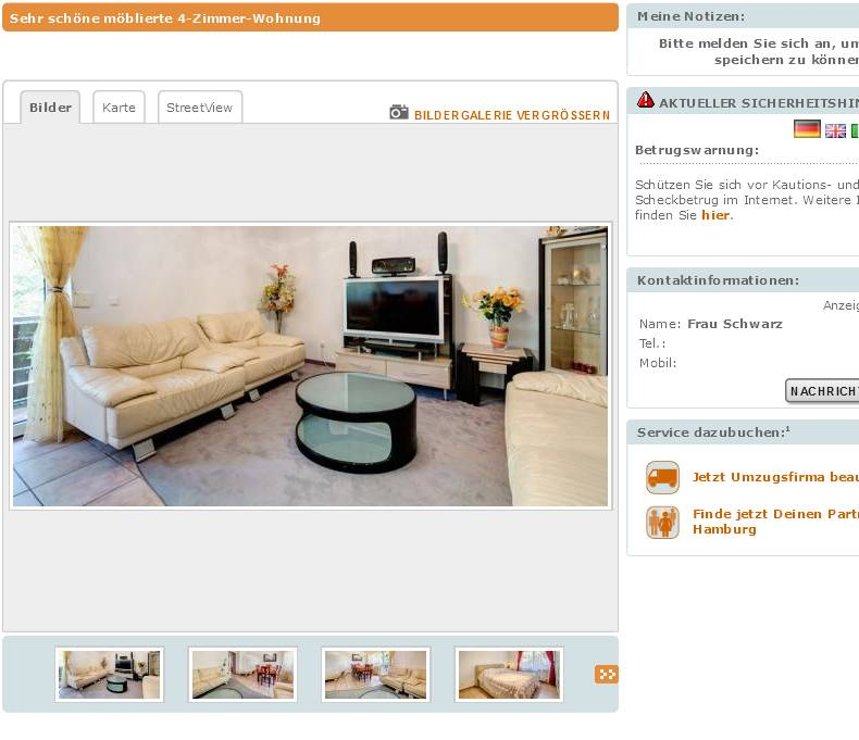 frau sabine alias frau schwarz sehr sch ne m blierte 4 zimmer. Black Bedroom Furniture Sets. Home Design Ideas