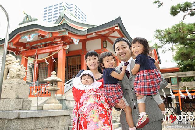 鶴見神社でお宮参り出張撮影