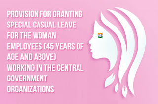 Special-Casual-Leave-for-the-Central-Government-Women-Employees